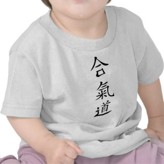 Aikido japanese character t shirt