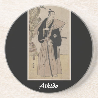 Aikido Japanese Martial Art Sandstone Coaster