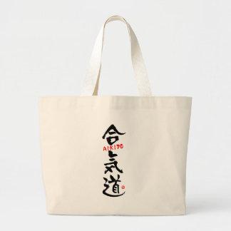 Aikido-KANJI Large Tote Bag