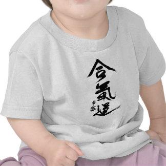 Aikido Kanji O'Sensei Calligraphy Tee Shirts