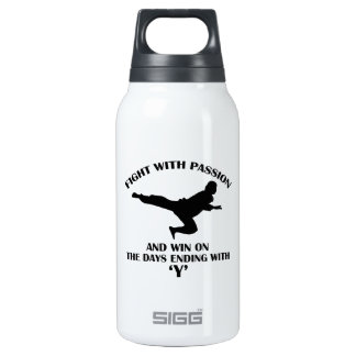aikido martial design insulated water bottle