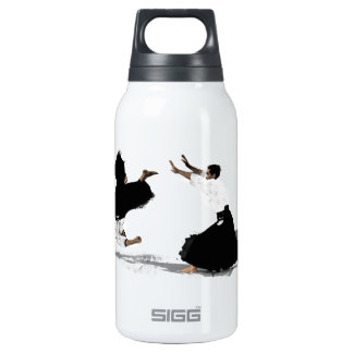 Aikido nage insulated water bottle