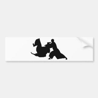 Aikido Silhouette Bumper Sticker