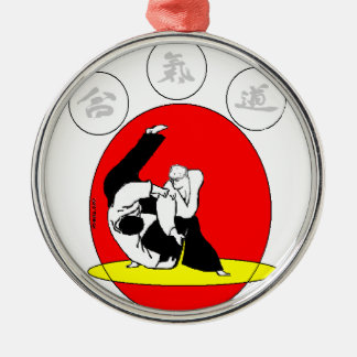 AIKIDO Silver-Colored ROUND DECORATION