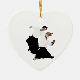 Aikido suwari ceramic heart decoration