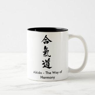 Aikido - The Way of Harmony Two-Tone Coffee Mug