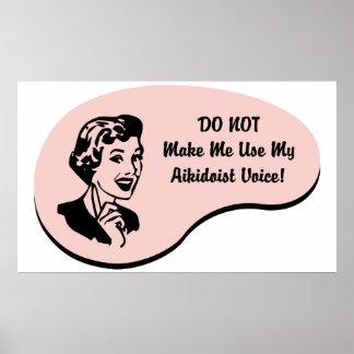 Aikidoist Voice Posters