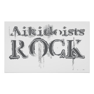 Aikidoists Rock Posters
