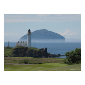 Ailsa Craig Turnberry Lighthouse poster
