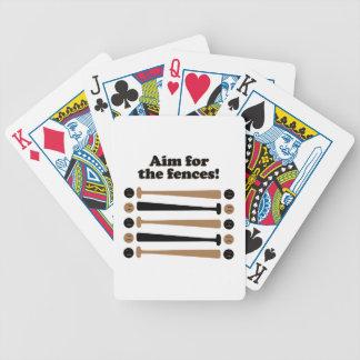 Aim for Fences Poker Deck