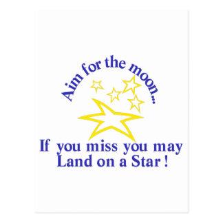 Aim for the Moon Postcard