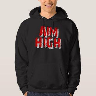 Aim High RED/WHITE Hoodie