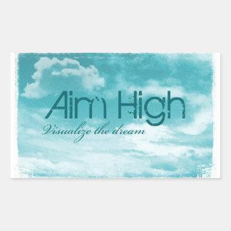 Aim High. Visualize The Dream. Rectangular Sticker