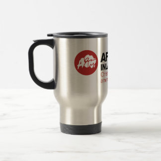 AIM Logo & Tagline Travel Mug