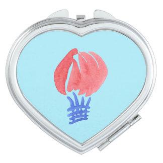 Air Balloon Heart Compact Mirror
