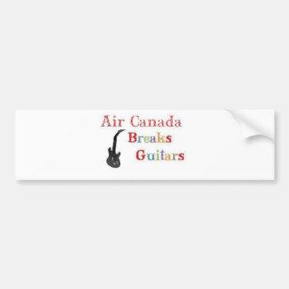 Air Canada Breaks Guitars Bumper Sticker