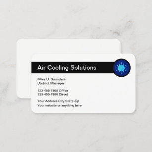 Air service business cards zazzle nz air conditioning service businesscards business card reheart Image collections