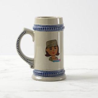 Air Force Camo Head Dark Coffee Mugs