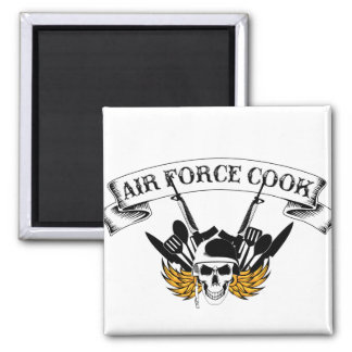 Air Force Cook Square Magnet