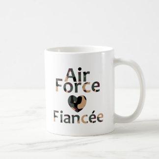 Air Force Fiancee Heart Camo Coffee Mug