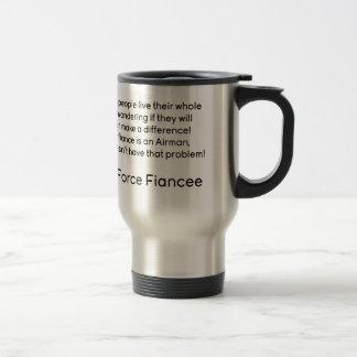 Air Force Fiancee No Problem Travel Mug