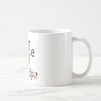 Air Force Grandpa Heart Camo Coffee Mug