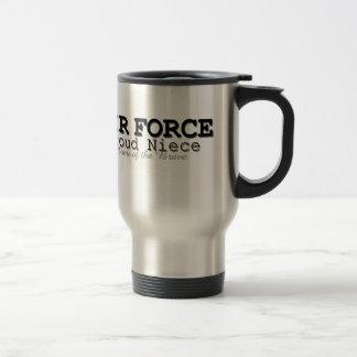 Air Force Niece Home of Brave Travel Mug