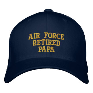 Air Force retired Papa embroidered cap Embroidered Baseball Cap