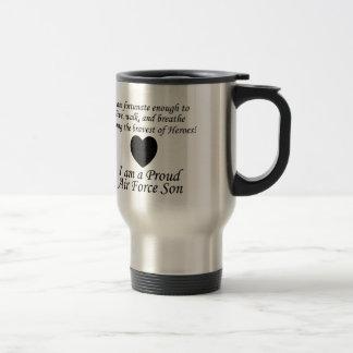 Air Force Son Fortunate Travel Mug