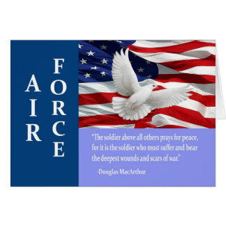 Air Force Thank You Mac Arthur Quote Card