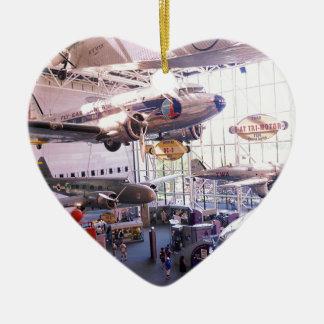 Air Museum Ceramic Heart Decoration