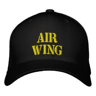"""""""AIR WING"""" PILOTS CAP large stencil type Embroidered Hat"""