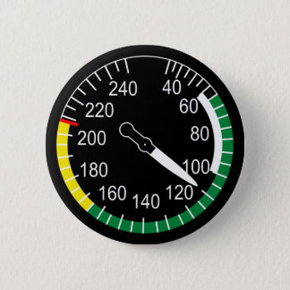 Aircraft Airspeed Indicator 6 Cm Round Badge