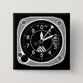 Aircraft Altimeter Instrument 15 Cm Square Badge
