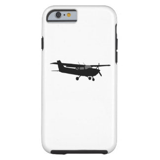 Aircraft Cessna Black Silhouette Flying Decor Tough iPhone 6 Case