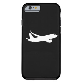 Aircraft Jet Liner White Silhouette Flying Decor Tough iPhone 6 Case