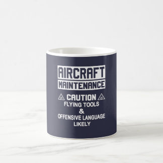 Aircraft Maintenance Safety Basic White Mug