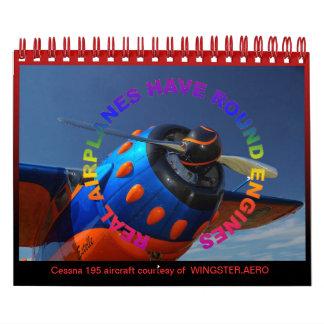 Aircraft Radial Engine mini date book Wall Calendars