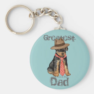Airedale Dad Basic Round Button Key Ring