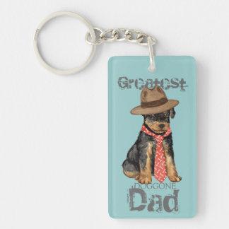 Airedale Dad Key Ring