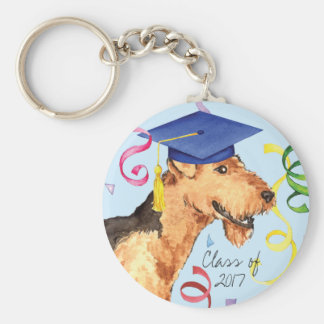 Airedale Graduate Key Ring