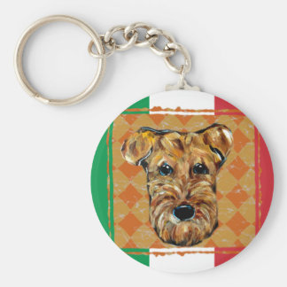AIREDALE ITALY KEY RING