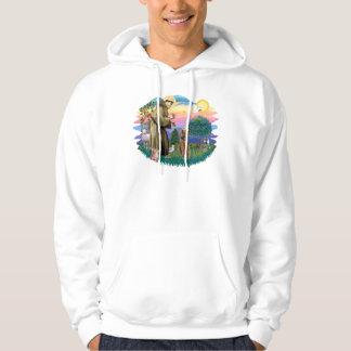 Airedale (looking up) hoodie