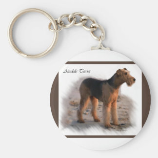 Airedale Terrier Art Gifts Key Ring