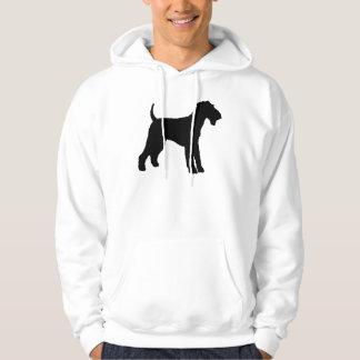Airedale Terrier (black) Hoodie