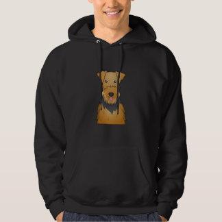 Airedale Terrier Cartoon Hoodie
