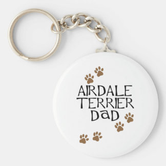 Airedale Terrier Dad Key Ring