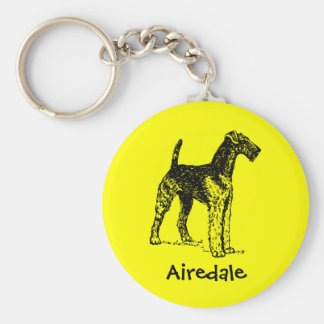 Airedale Terrier Key Ring