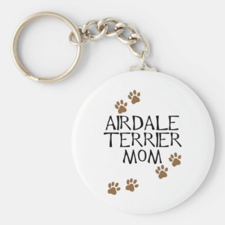Airedale Terrier Mom Basic Round Button Key Ring