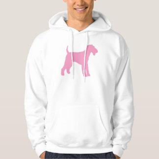 Airedale Terrier (pink) Hoodie